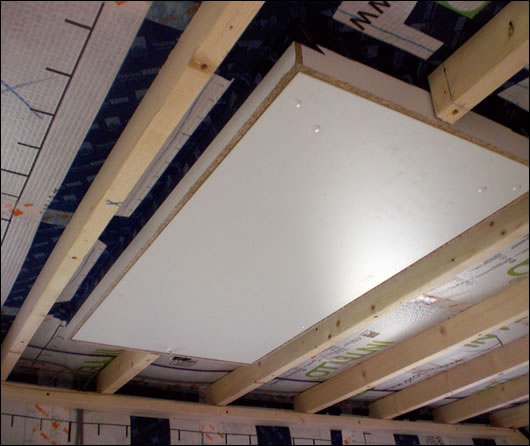 The house's airtight Wellhöfer attic hatch