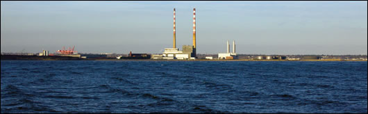 The efficiency of Ireland's electricity production has improved as older, less efficient power plants have been closed and replaced by modern gas plants and renewable energy. Dublin's iconic Poolbeg chimneys puffed for the last time in 2010 when the site's oil-burning electricity plant was shut