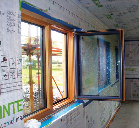 Premium Maxi Passive House Institute certified windows and Pro Clima airtightness system