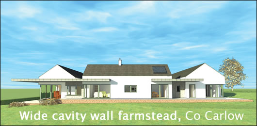 Wide cavity wall farmstead