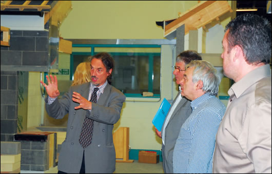 MosArt's Art McCormack describes the minutiae of passive house at the FÁS passive house tradespeople course in Finglas