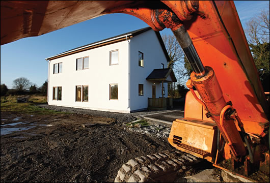 an uncertified passive house by Galway-based Scandinavian Homes in Cloughjordan, Co Tipperary